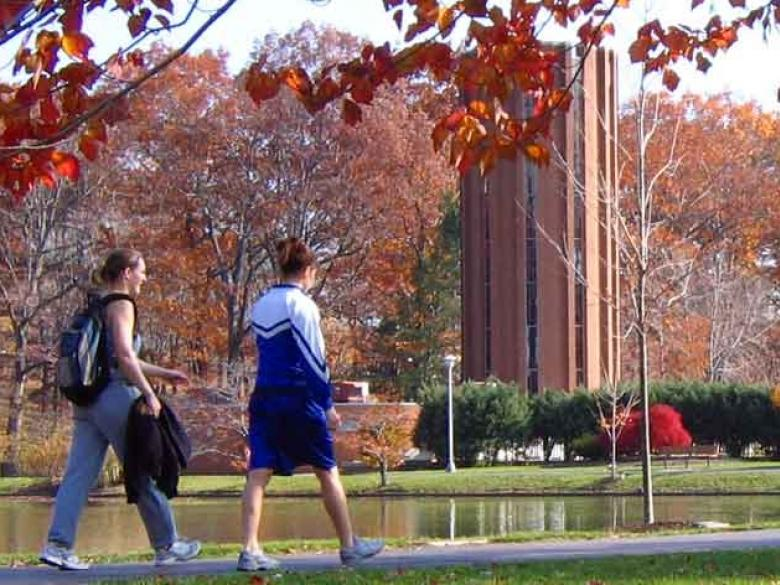 Penn State Altoona students walking on campus